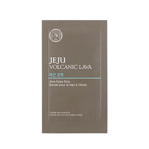 Ленточка от черных точек The Face Shop Jeju Volcanic Lava Aloe Nose Strip