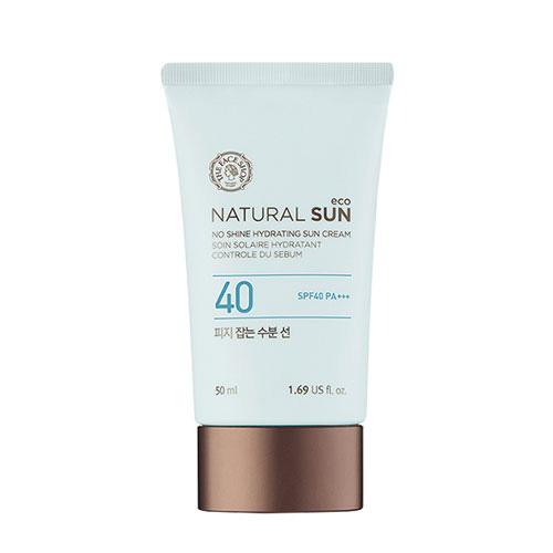 Увлажняющий солнцезащитный крем The Face Shop Natural Sun Eco No Shine Hydrating Sun Cream SPF40 PA+++