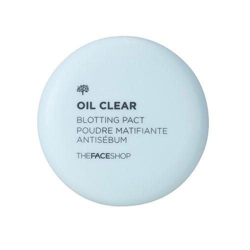 Матирующая компактная пудра для жирной кожиThe Face Shop Oil Clear Blotting Pact