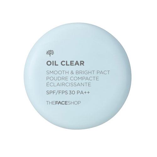 Матирующая пудра для гладкости и сияния кожи The Face Shop Oil Clear Smooth&Bright Pact SPF30 PA++