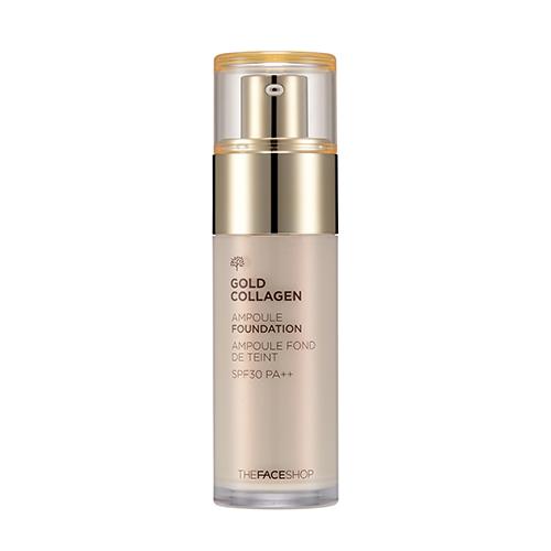 Тональная основа с коллагеном The Face Shop Gold Collagen Ampoule Foundation SPF30 PA++