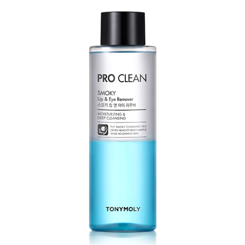 Двухфазная жидкость для снятия макияжа с губ и глаз Tony Moly Pro-Clean Smoky Lip And Eye Remover