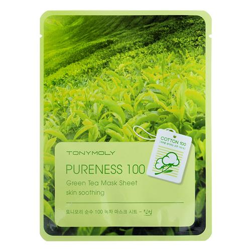 Маска для лица с экстрактом зеленого чая Tony Moly Pureness 100 Green Tea Mask Sheet