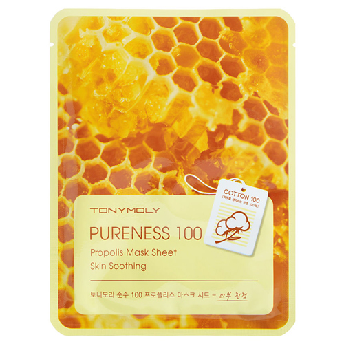 Маска для лица с экстрактом прополиса Tony Moly Pureness 100 Propolis Mask Sheet Skin Calming