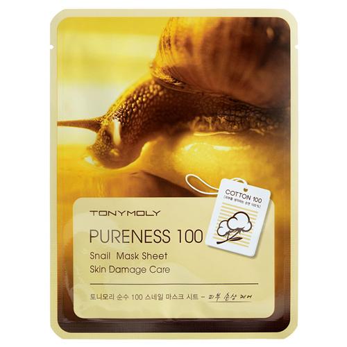 Маска для лица с муцином улитки Tony Moly Pureness 100 Snail Mask Sheet