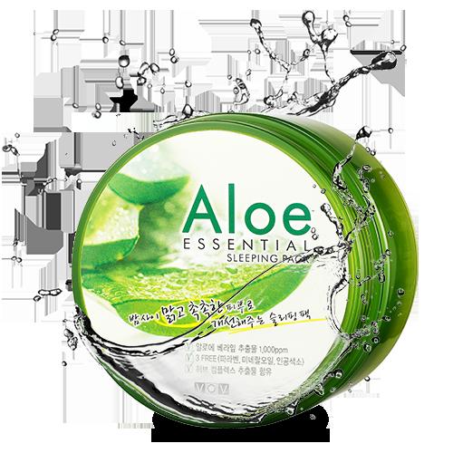 Ночная успокаивающая маска VOV Aloe Essential Sleeping Pack